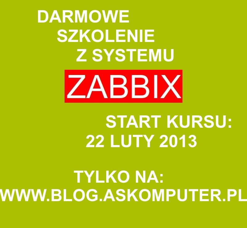 Darmowy kurs Zabbixa