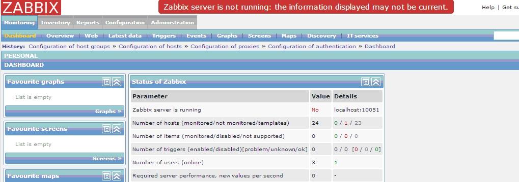 """Problemy z uruchomieniem Zabbixa cz.3: Błąd """"Zabbix server is not running"""""""