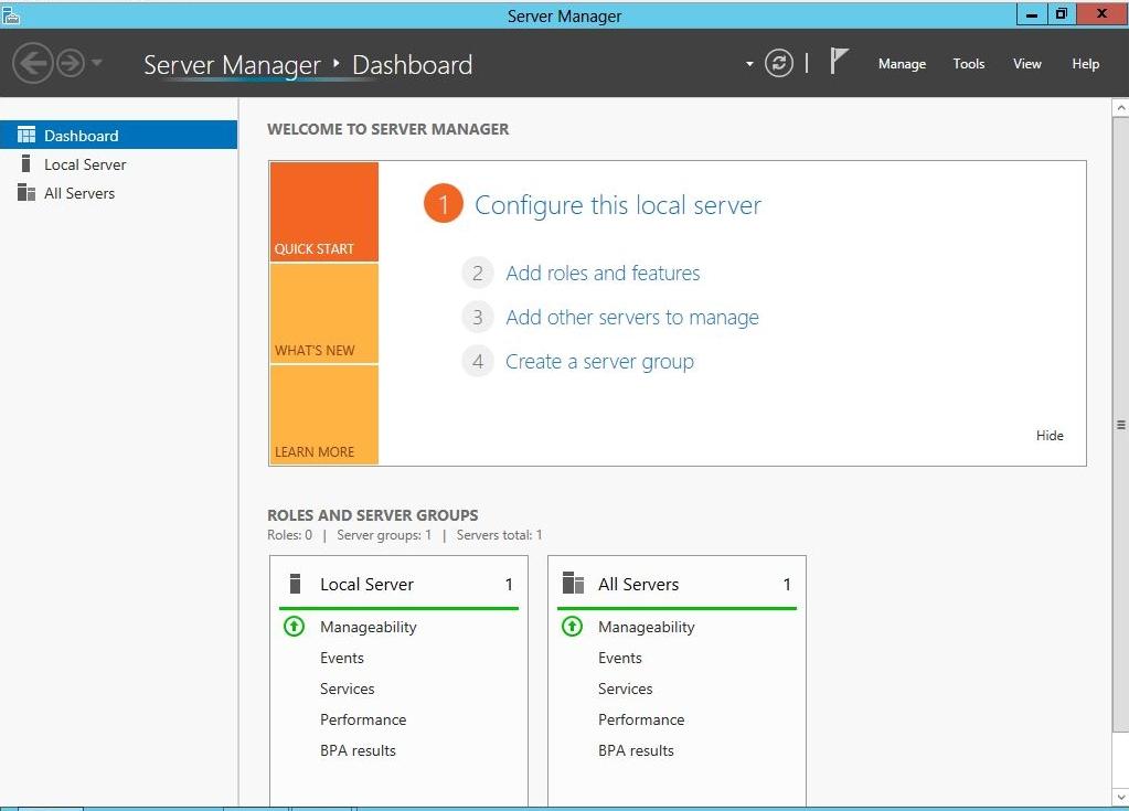 Windows 2012: Podłączenie serwera do domeny