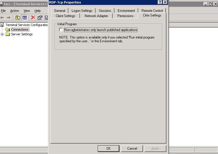Zdalny pulpit dostępny tylko dla administratorów